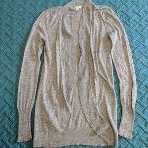 Grey long cardigan size small